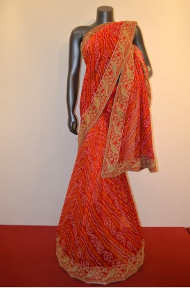 Party Wear Exclusive Pure Bandhani Silk Saree