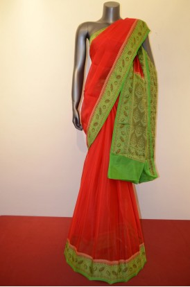 Special Thread Weaving Pure Crepe Silk Saree