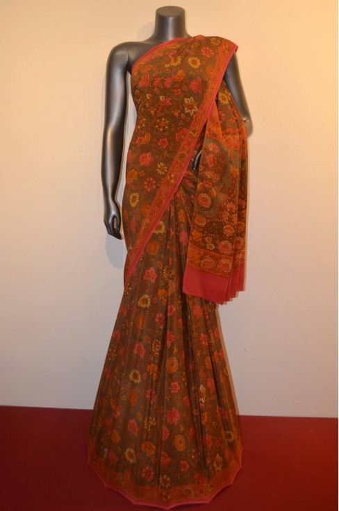 Designer & Exclusive Floral Pure Crepe Silk Saree