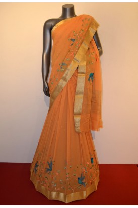 Exclusive Embroidery Pure Silk Chffion