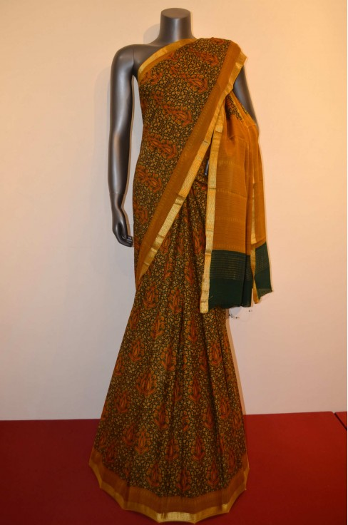 Exclusive Printed  Pure Crepe Silk Saree
