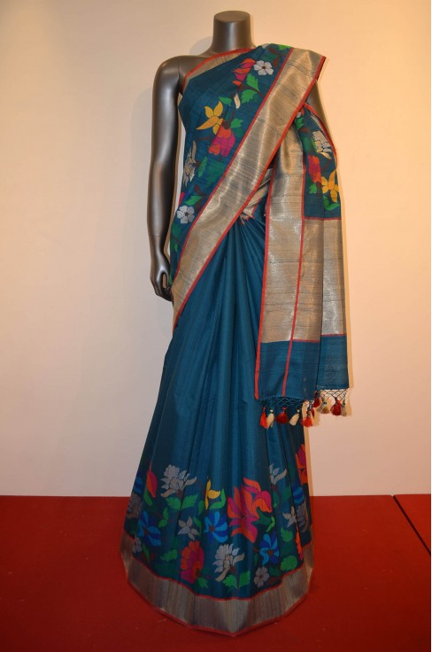 Contemporary & Exclusive Special Handloom Tussar Silk Saree