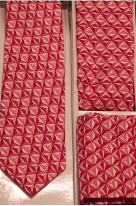Exclusive Printed Pure Silk Tie, Pocket Square & Cravat Set