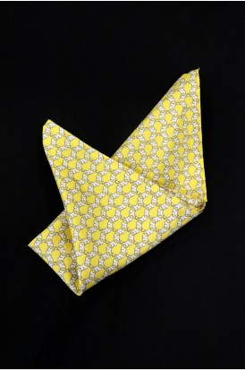 Exclusive Printed Pure Silk Pocket Square