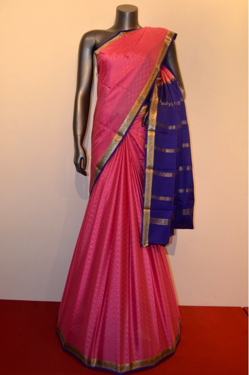 Traditional Jacquard Pure Mysore Crepe Silk Saree