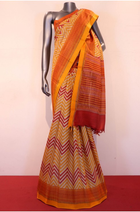 Party Wear Printed Pure Tussar..