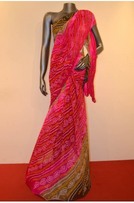 Special & Exclusive Pure Bandhani Silk Saree