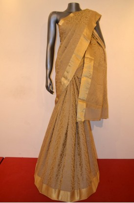 Designer & Grand Tissue Zari Pure Crepe Silk Saree