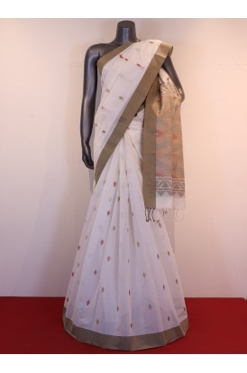 Special & Classic Thread Weave Pure Village Cotton Saree