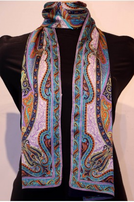 Exclusive Printed Pure Satin Silk Stole