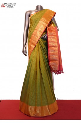 Traditional & Grand Wedding Handloom Kanjeevaram Silk Saree