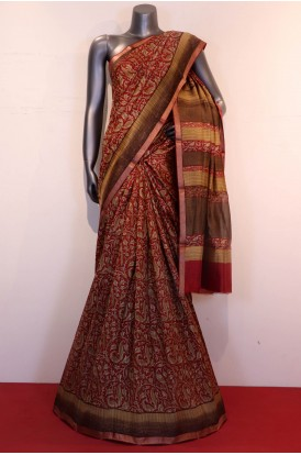 Exclusive Printed Pure Tussar Silk Saree