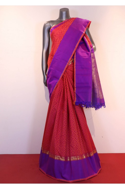 AF203374-Traditional & Contrast Wedding Handloom Kanjeevaram Silk Saree