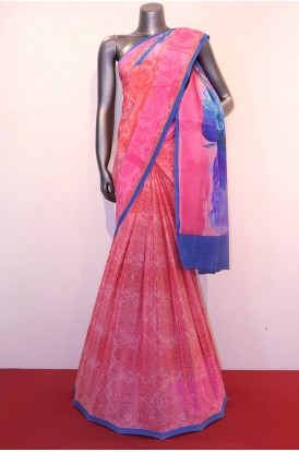 Abstract  Prints Pure Crepe Silk Saree