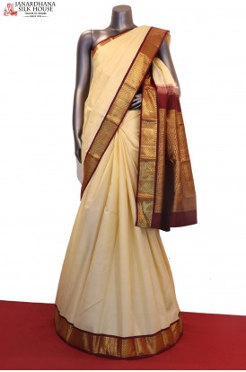 Classic Contrast Traditional Kanjeevaram Silk Saree
