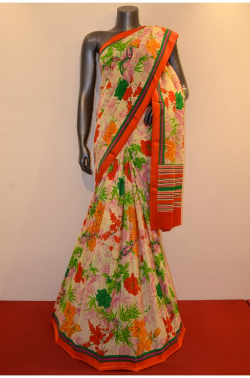 Exclusive Floral Pure Printed Crepe Silk Saree