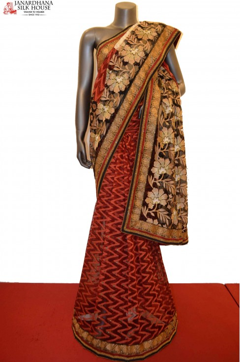 Designer Party Wear Special Net Embroidery Saree