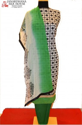Printed Cotton Pure Silk Suits With Dupatta