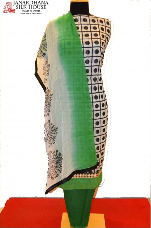 Printed Cotton Pure Silk Suits..