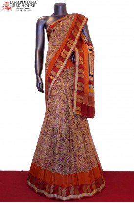 AA204241-Printed Exclusive Pure Georgette Silk Saree