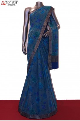 Designer & Exclusive Floral Pure Georgette Silk Saree