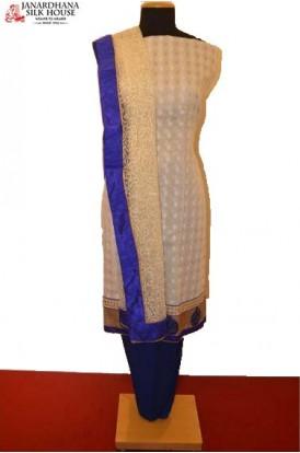 Party Wear Exclusive Unstitched Pure Cotton Suit