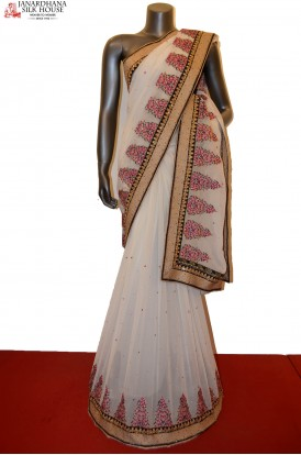 AA212725-Designer Party Wear Crepe Saree