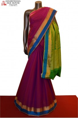 AA215220-Special Thread Weave Classic Pure South Silk Saree