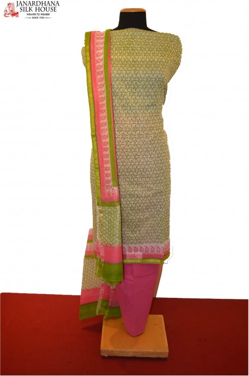Party Wear Unstitched Pure Cotton Suit