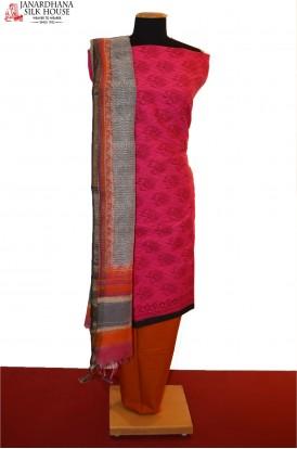 AB200630-Party Wear Unstitched Pure Cotton Suit