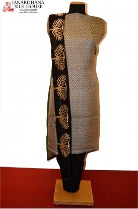AB200765-Party Wear Unstitched Pure Cotton Suit