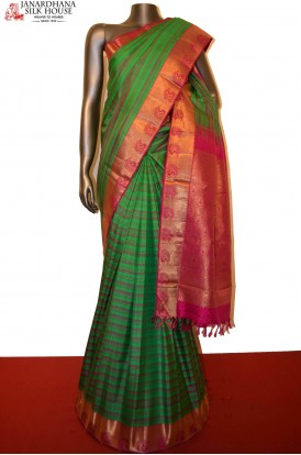 Traditional Wedding Handloom Kanjeevaram Silk Saree