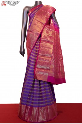 Exclusive & Grand Contrast Wedding Kanjeevaram Silk Saree