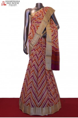 Abstarct & Designer Pure Georgette Silk Saree