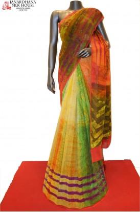 Designer Printed Pure Georgette Silk Saree
