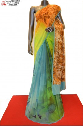 Designer & Pure Printed Georgette Silk Saree