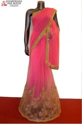 AB206140-Designer Party Wear Net Saree