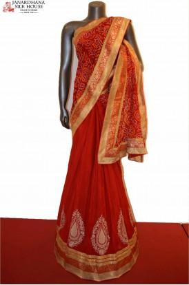 Party Wear Exclusive Pure Bandhani Silk Saree