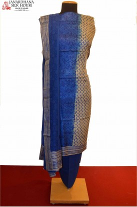 Exclusive Printed Pure Tussar Silk Suit