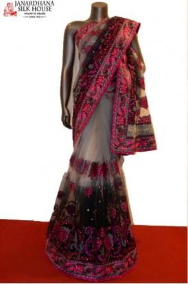 AB208696-Designer Party Wear Net Saree