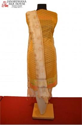 Party Wear Unstitched Pure Cotton Suit
