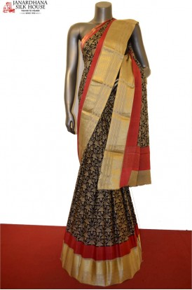 Party Wear Pure Crepe Silk Saree With Designer Prints