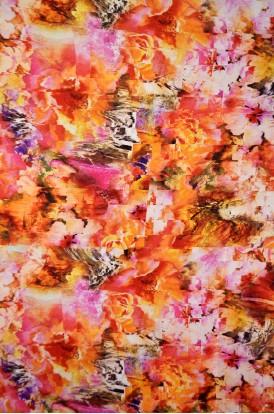 Designer Pure Printed Crepe  Silk  Fabrics W-43-IN