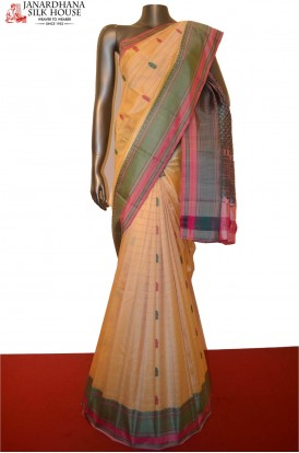 AC203187-Traditional Thread Weave Pure South Silk Saree