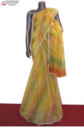AC203676-Multi Shade Exclusive Pure Silk Chiffon