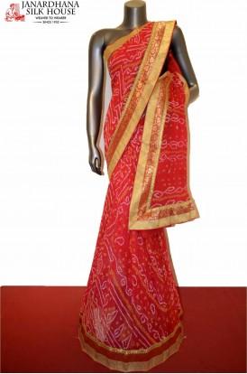 Special Pure Bandhani Silk Saree