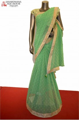 Gorgeous Party Wear  Embroidery Silk Saree
