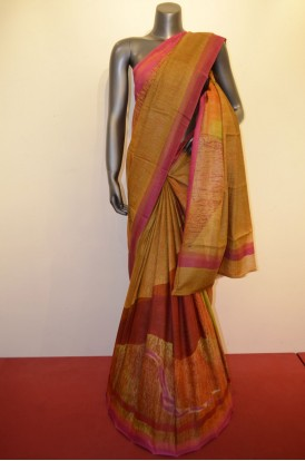 Ethnic Pure Tussar  Silk Saree