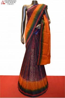 Beautiful Pure Tussar Digital Print Silk Saree
