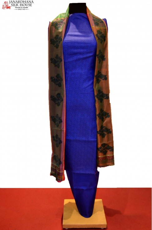 Ethnic Printed Pure Silk Suit..